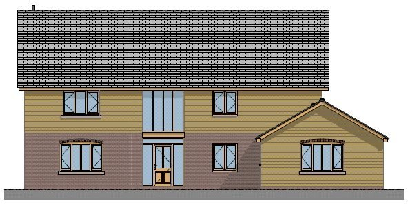 Plot 1 Front Elevation 2 Land Adj to Chestnut Cottage