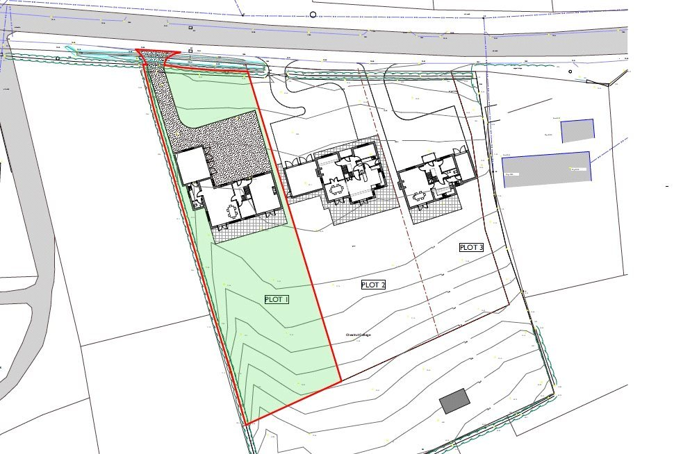 Plot 1 Land Adj Chestnut Cottage Knockin plot lay out