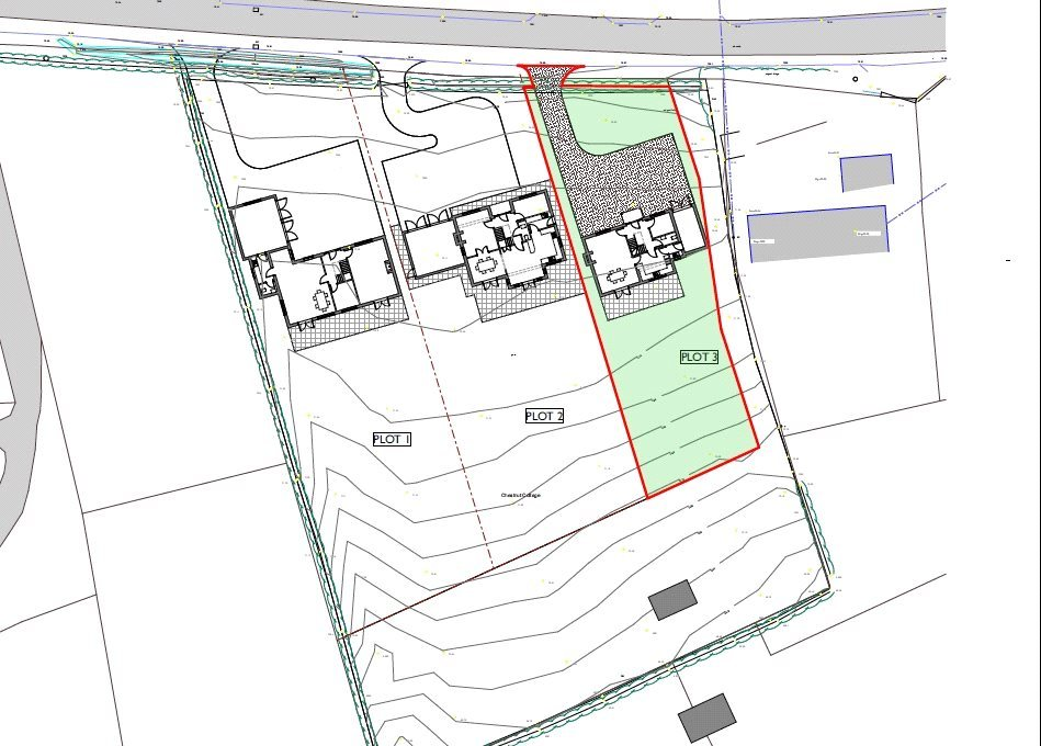 Plot 3 Land Adj Chestnut Cottage Knockin plot lay out